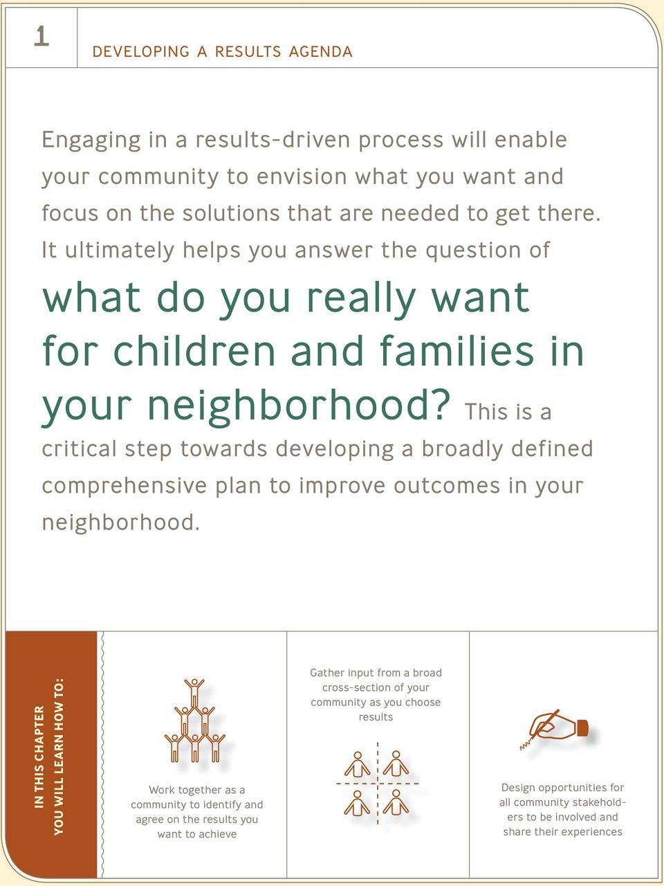 This is a critical step towards developing a broadly defined comprehensive plan to improve outcomes in your neighborhood.