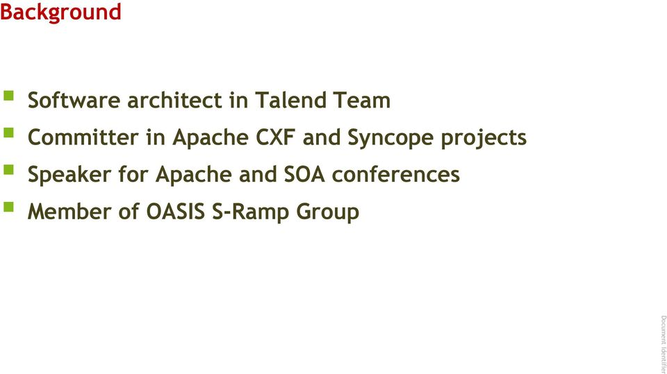 Syncope projects Speaker for Apache and