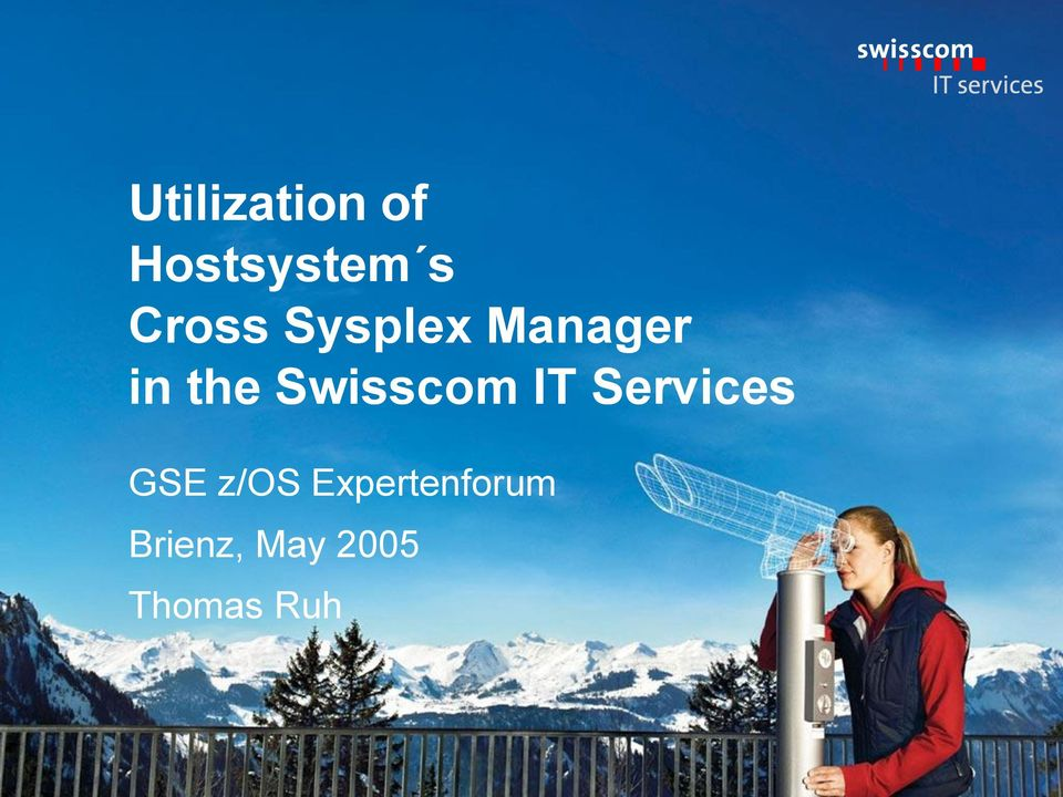 Swisscom IT Services GSE z/os