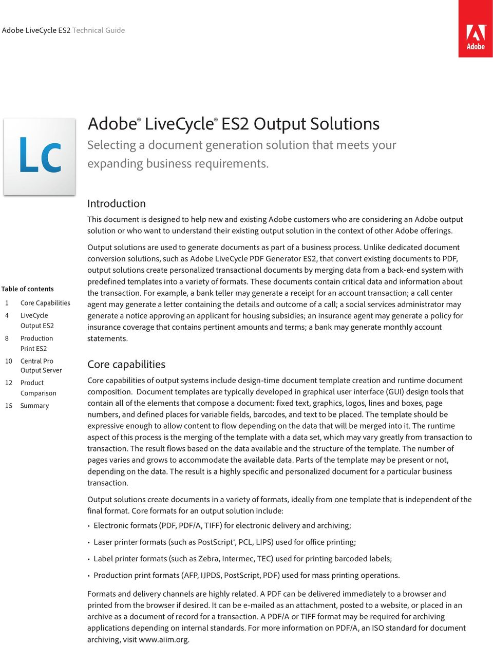 Adobe Livecycle Es2 Output Solutions Pdf