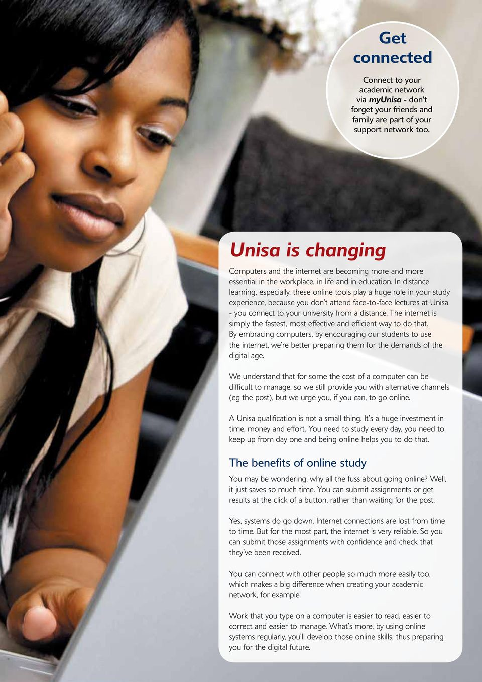 my unisa pdf in distance learning especially these online tools play a huge role in your study