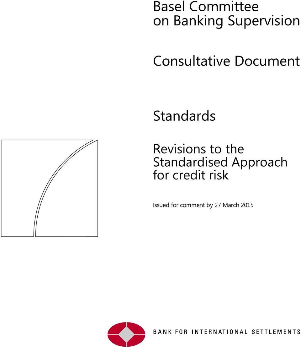 Revisions to the Standardised Approach