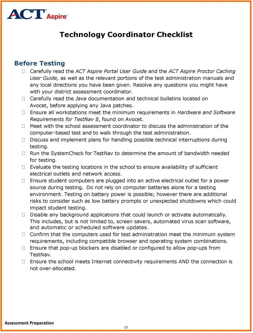 Carefully read the Java documentation and technical bulletins located on Avocet, before applying any Java patches.