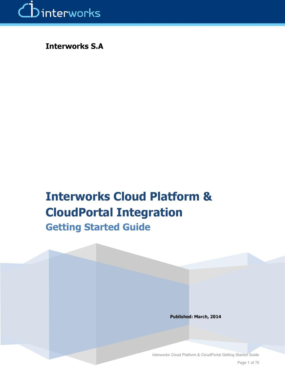 CloudPortal Integration