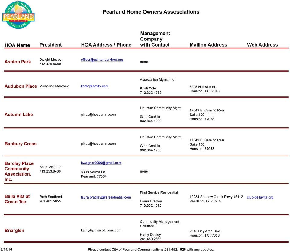 Crystal Cove Property Owners Association