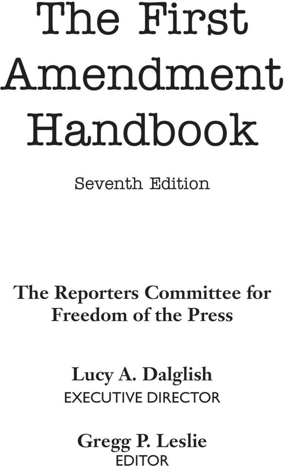 Freedom of the Press Lucy A.