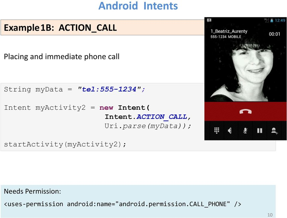 ACTION_CALL, Uri.