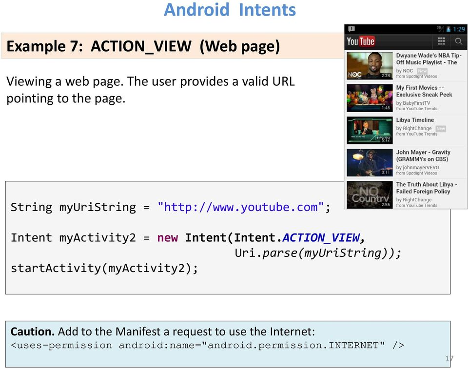 "com""; Intent myactivity2 = new Intent(Intent.ACTION_VIEW, Uri."