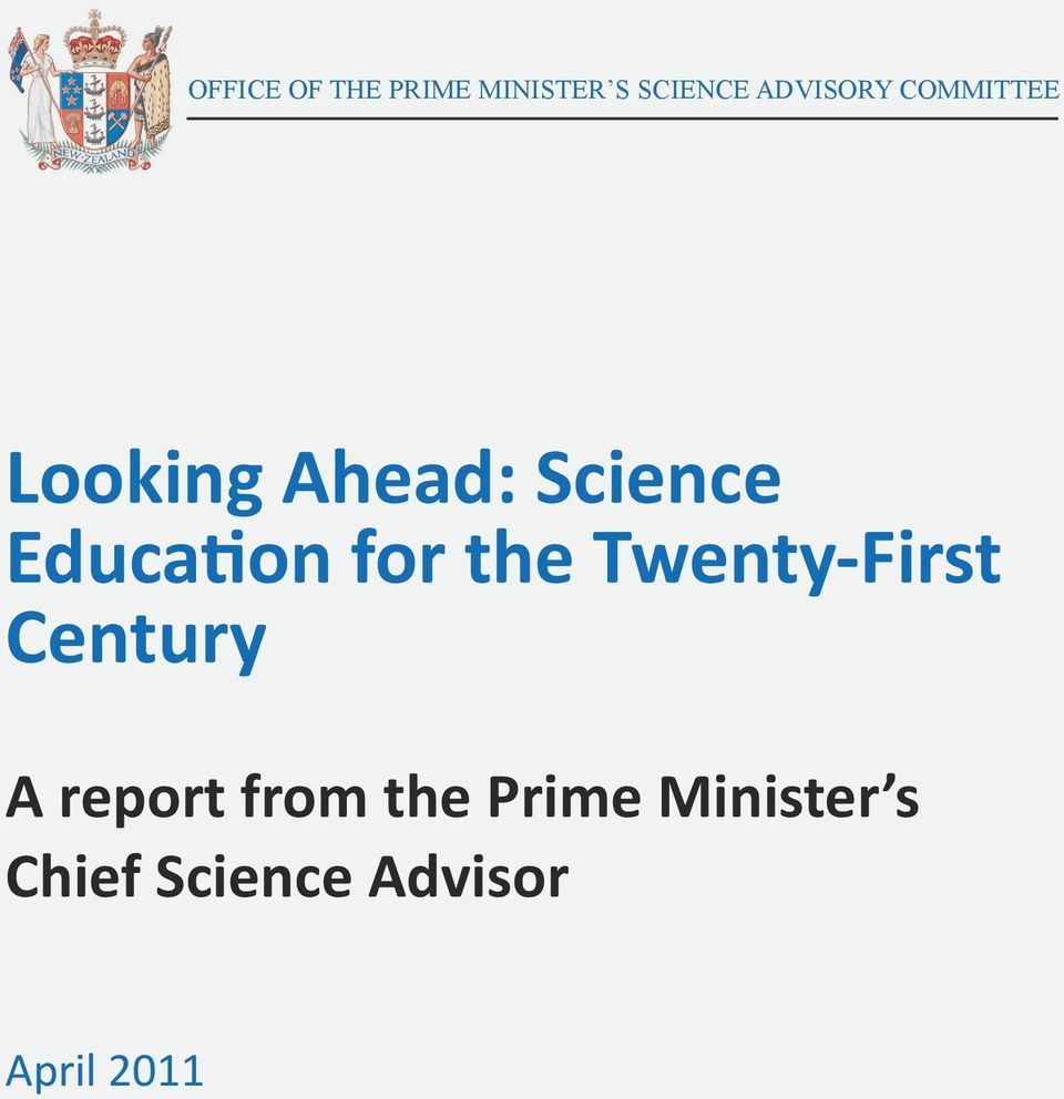 Education for the Twenty-First Century A