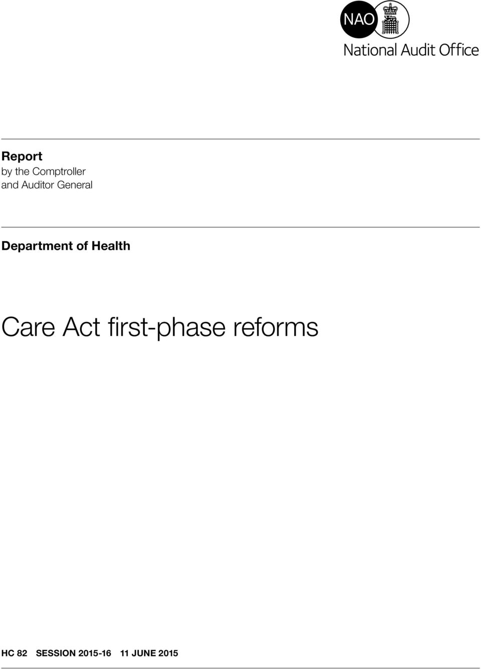 Health Care Act first-phase