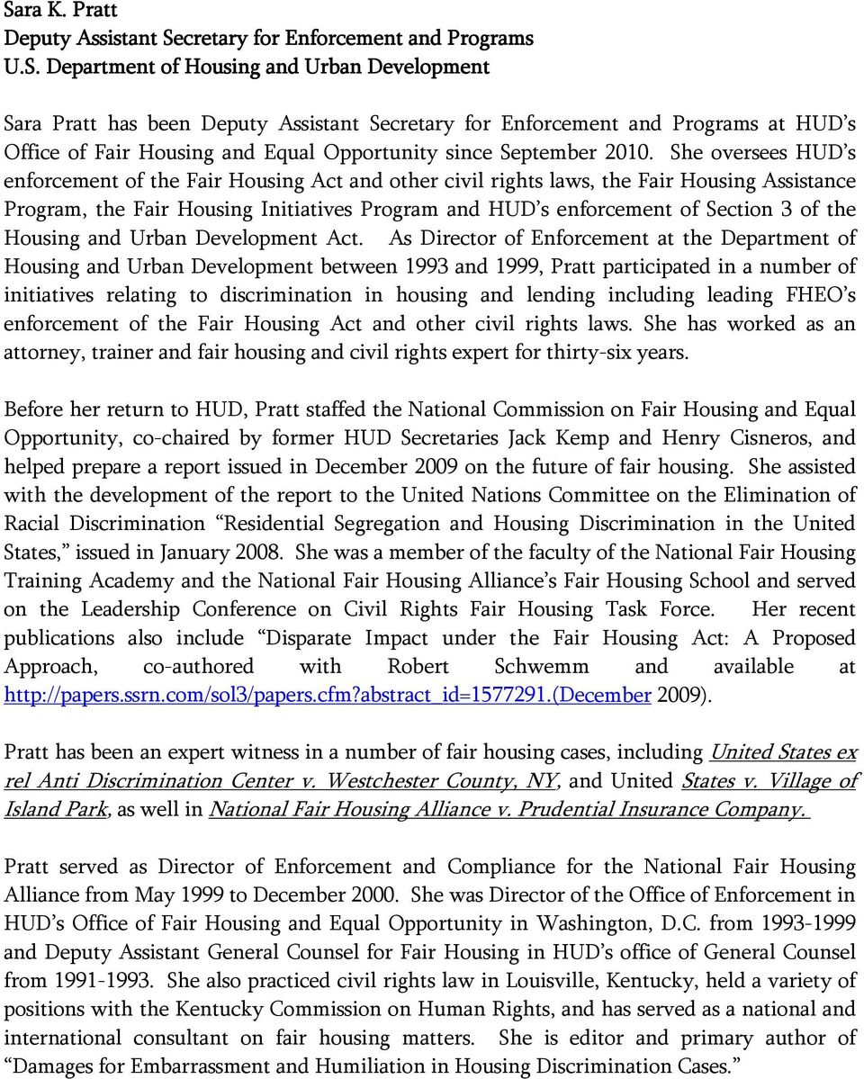 Housing and Urban Development Act.