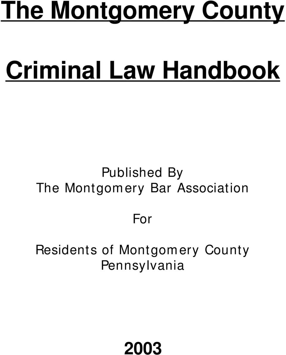 Montgomery Bar Association For
