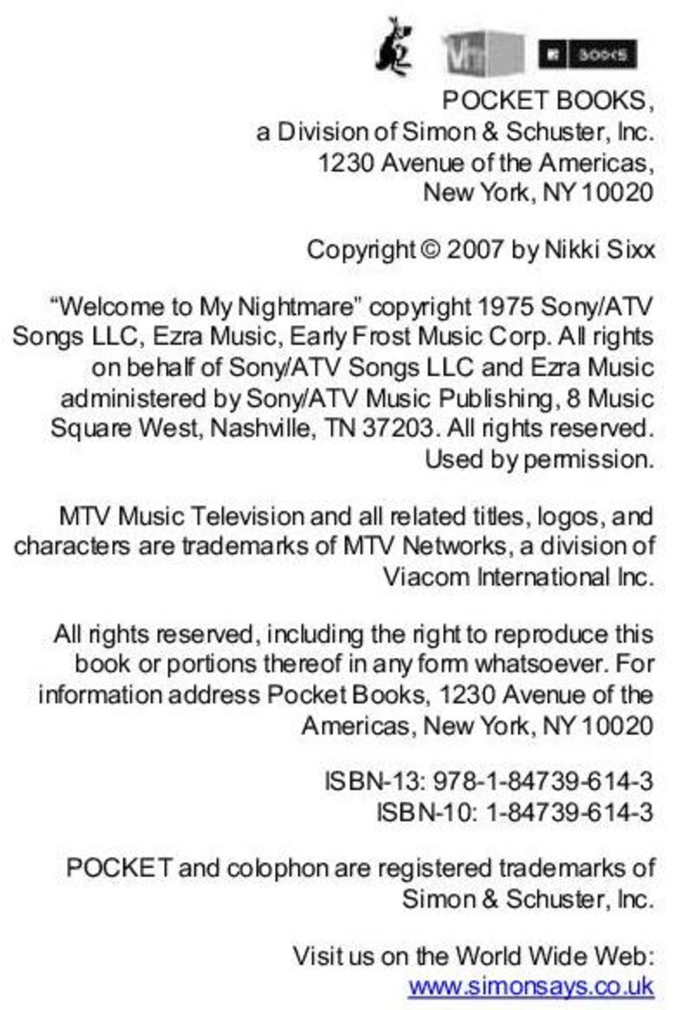 All rights on behalf of Sony/ATV Songs LLC and Ezra Music administered by Sony/ATV Music Publishing, 8 Music Square West, Nashville, TN 37203. All rights reserved. Used by permission.