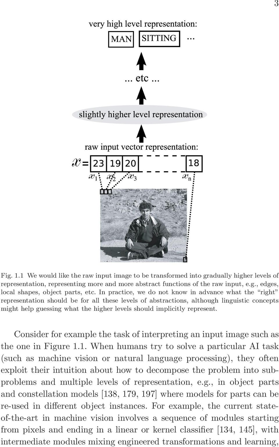 implicitly represent. Consider for example the task of interpreting an input image such as the one in Figure 1.