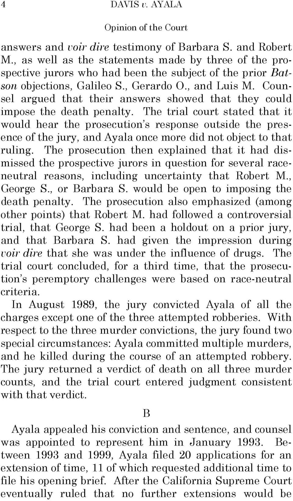 Counsel argued that their answers showed that they could impose the death penalty.