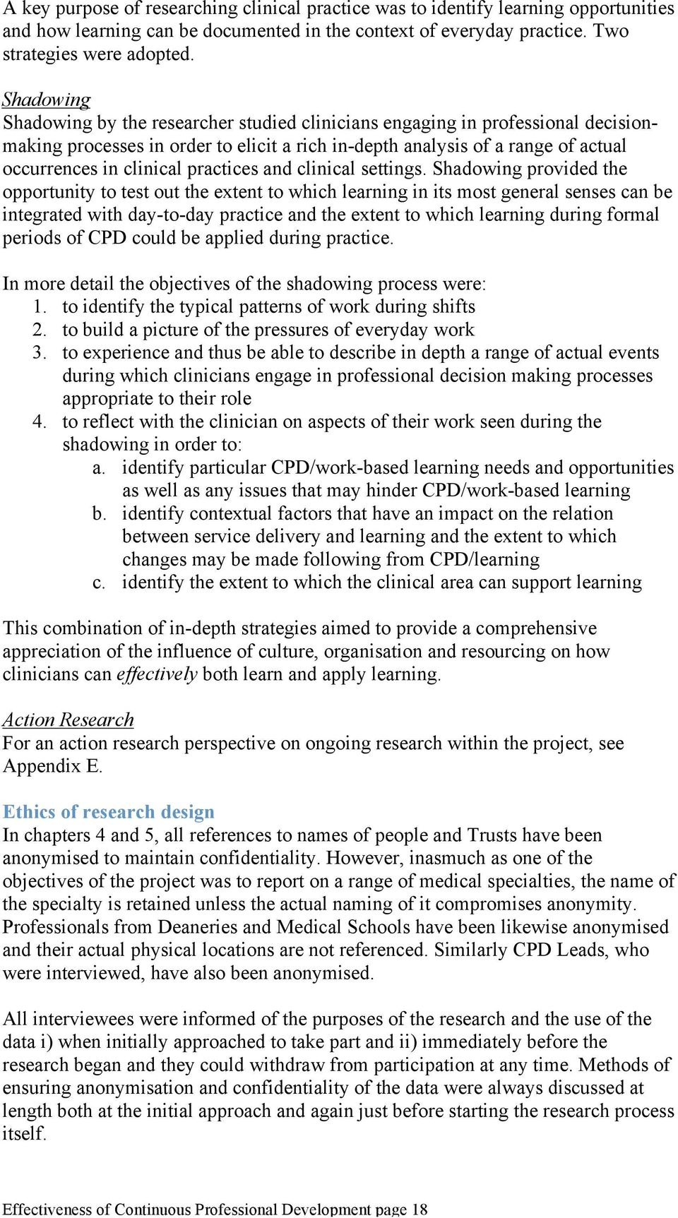 practices and clinical settings.