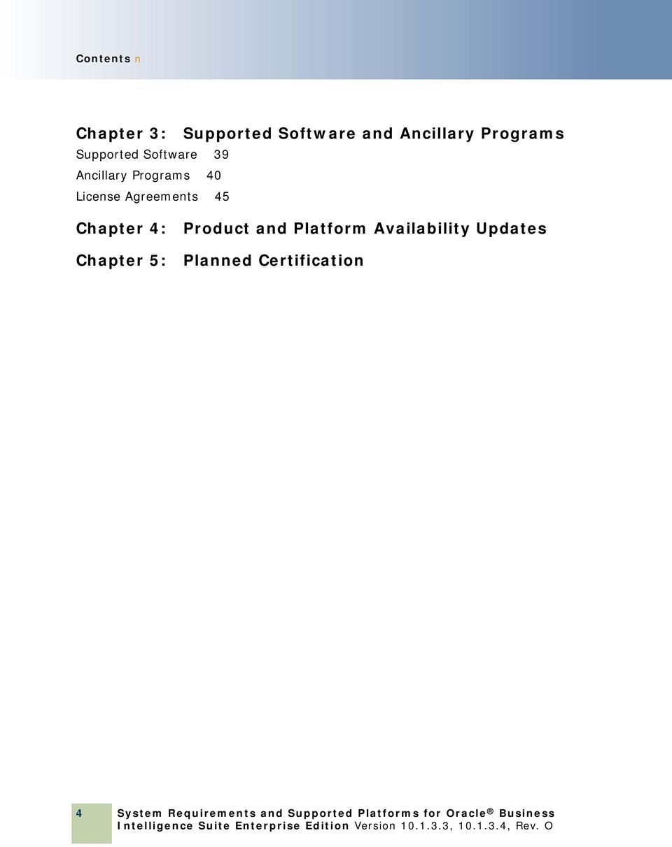 Chapter 4: Chapter 5: Product and Platform Availability Updates