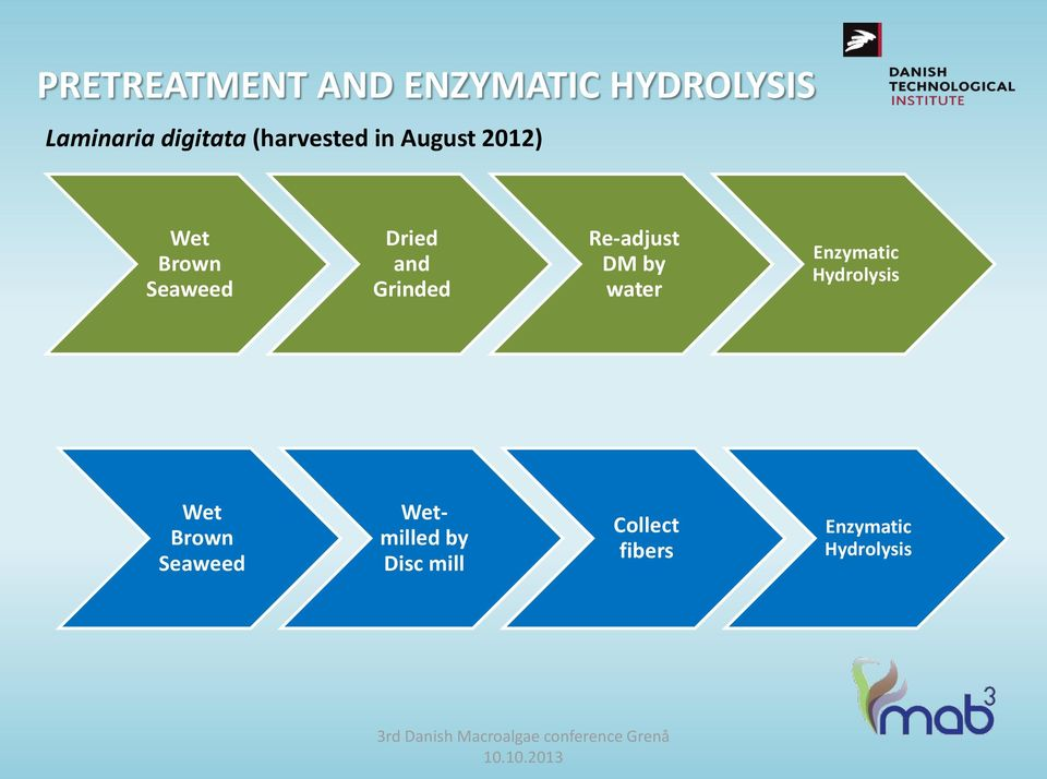 Grinded Re-adjust DM by water Enzymatic Hydrolysis Wet