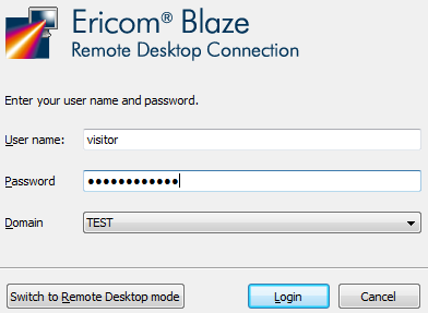 Enable SSL if it is required by your VMware View connection broker. Enter the address of the VMware View server in the Computer field and click Connect.