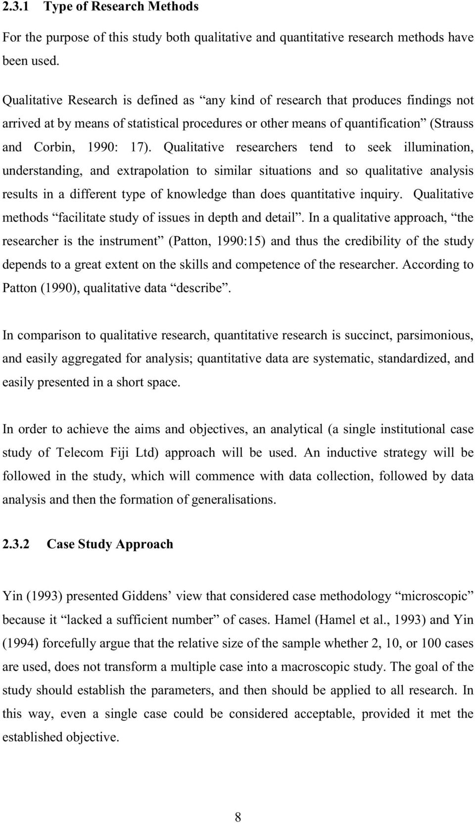Dissertation Qualitative Study
