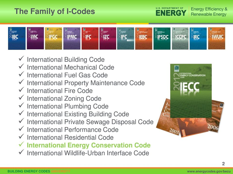 Code International Existing Building Code International Private Sewage Disposal Code International Performance