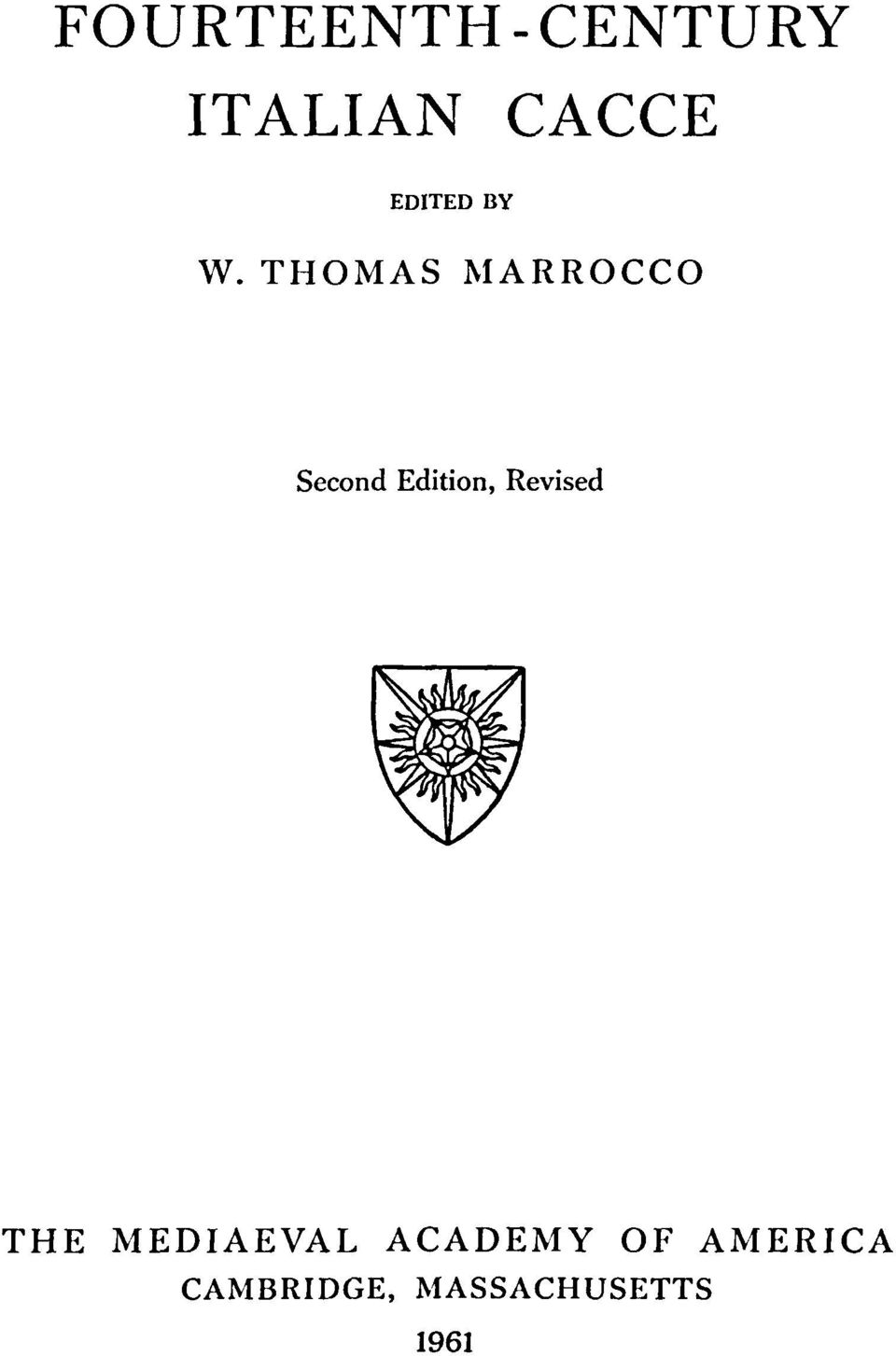 THOMAS MARROCCO Second Edition,