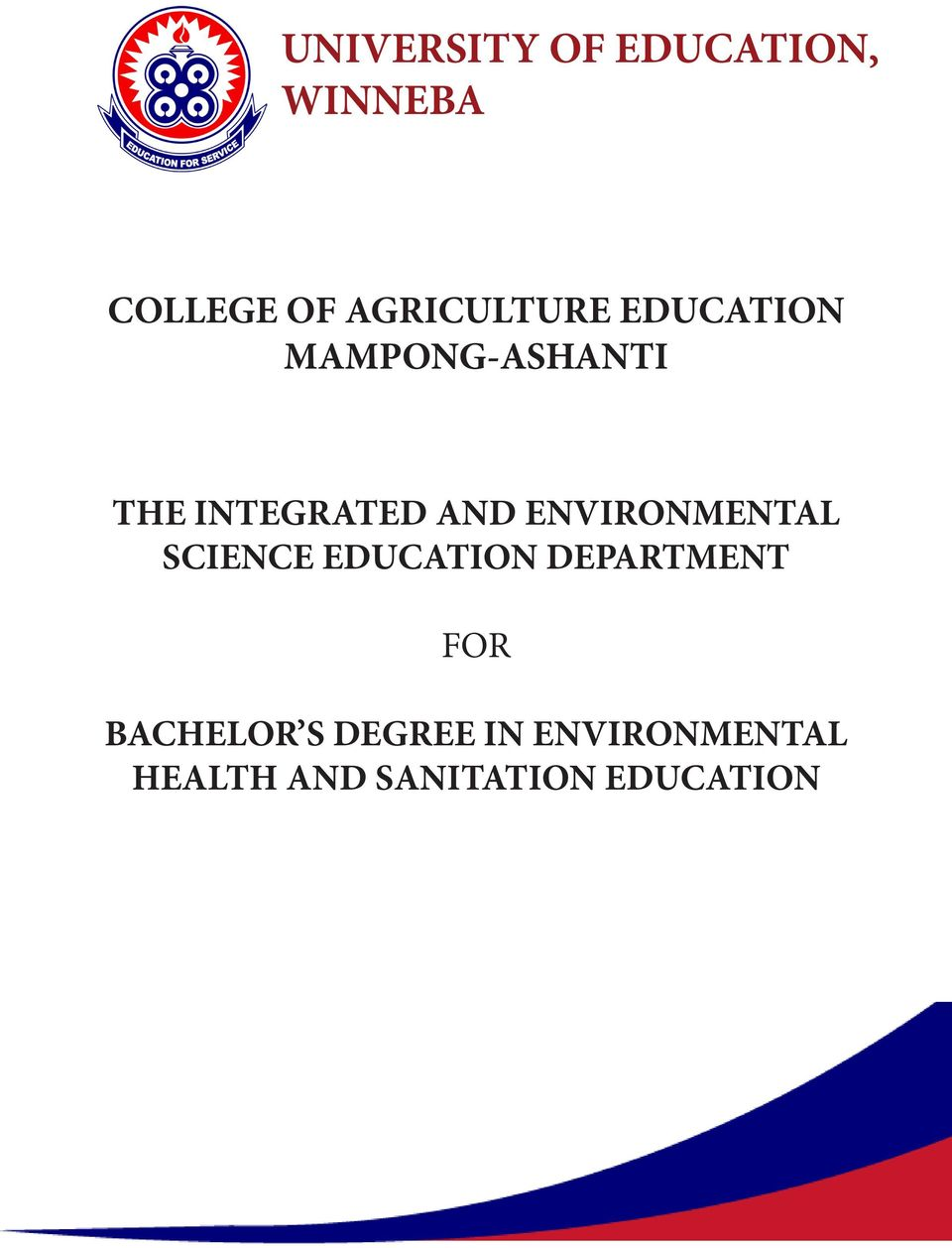 AND ENVIRONMENTAL SCIENCE EDUCATION DEPARTMENT FOR