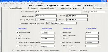 All displayed data (except the remote database message) is received from the patient s smart card. In Fig. patient s medical information about his allergies, diseases, etc., are displayed.