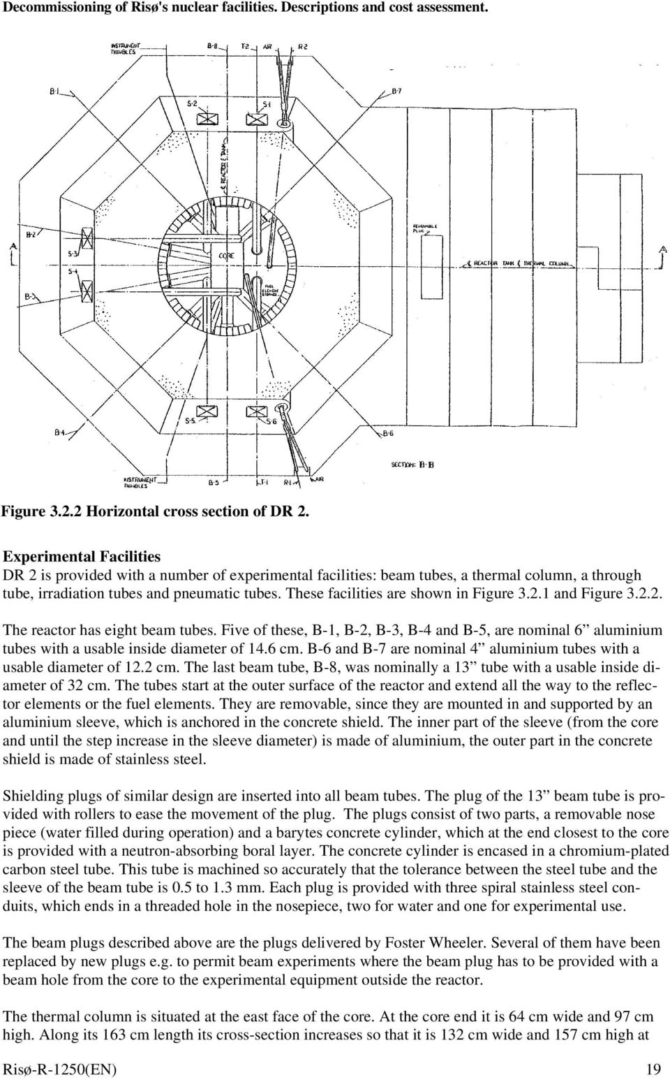 These facilities are shown in Figure 3.2.1 and Figure 3.2.2. The reactor has eight beam tubes.
