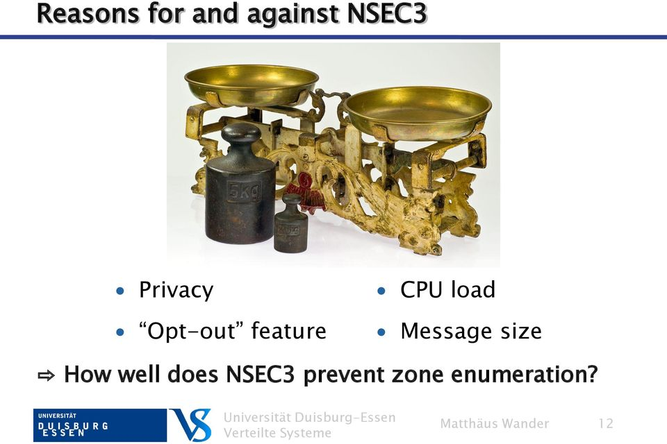 Message size How well does NSEC3