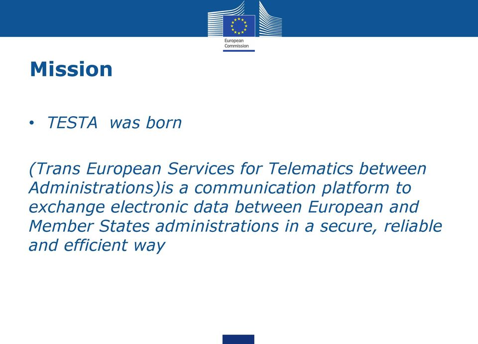 platform to exchange electronic data between European and