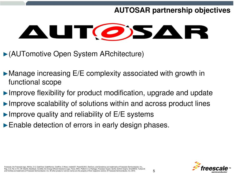 modification, upgrade and update Improve scalability of solutions within and across product
