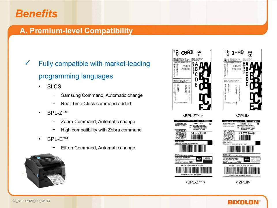 command added BPL-Z Zebra Command, Automatic change High compatibility with