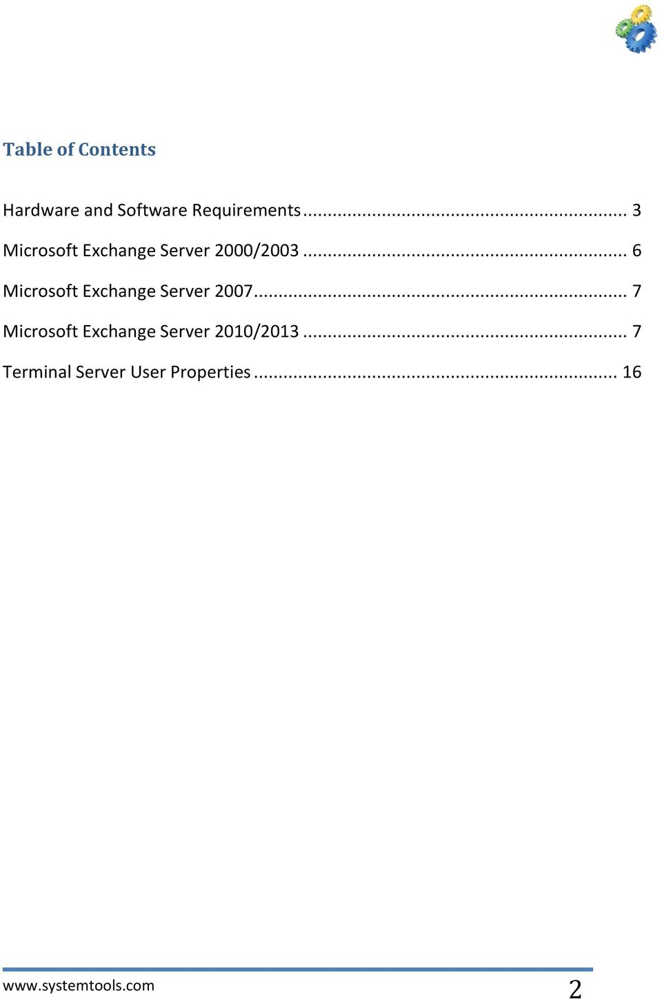 .. 6 Microsoft Exchange Server 2007.