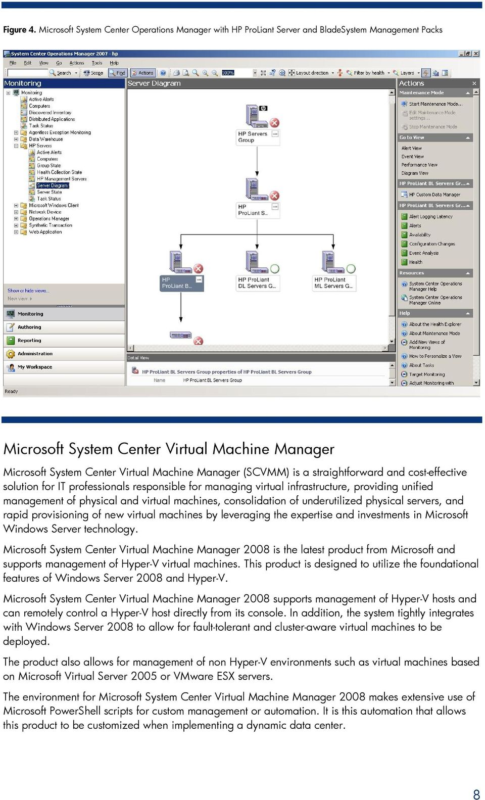 (SCVMM) is a straightforward and cost-effective solution for IT professionals responsible for managing virtual infrastructure, providing unified management of physical and virtual machines,