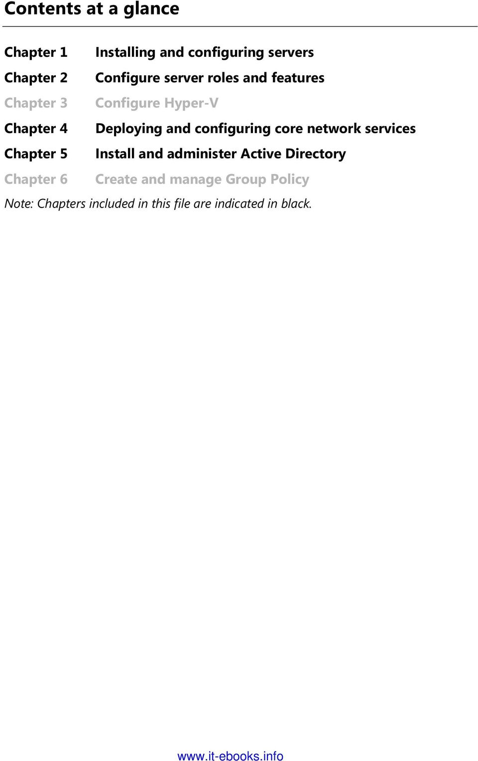 configuring core network services Chapter 5 Install and administer Active Directory