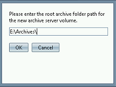 Click OK *Note: The location on this screen shot is an example, your archive server may be on a different hard drive. Step 19: ESM Archive Server Volume Properties Step 20: ESM Camera 1.