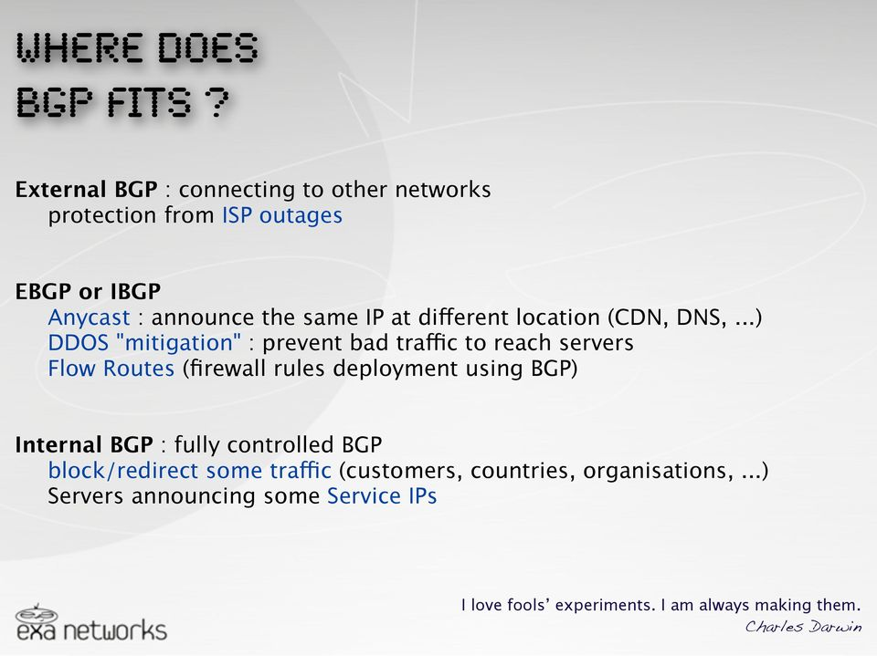 different location (CDN, DNS,.