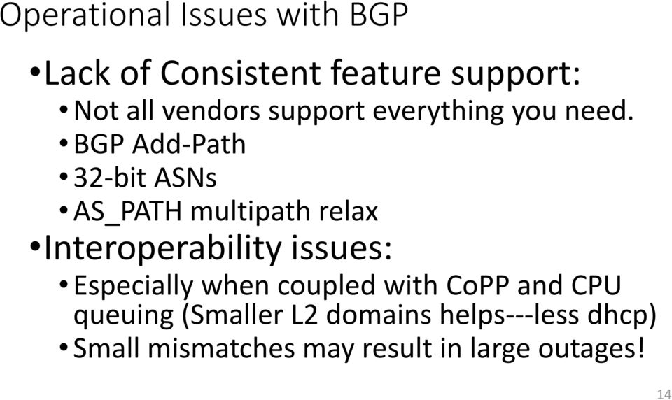 BGP Add-Path 32-bit ASNs AS_PATH multipath relax Interoperability issues: