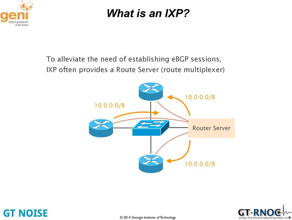 sessions, IXP often provides a Route