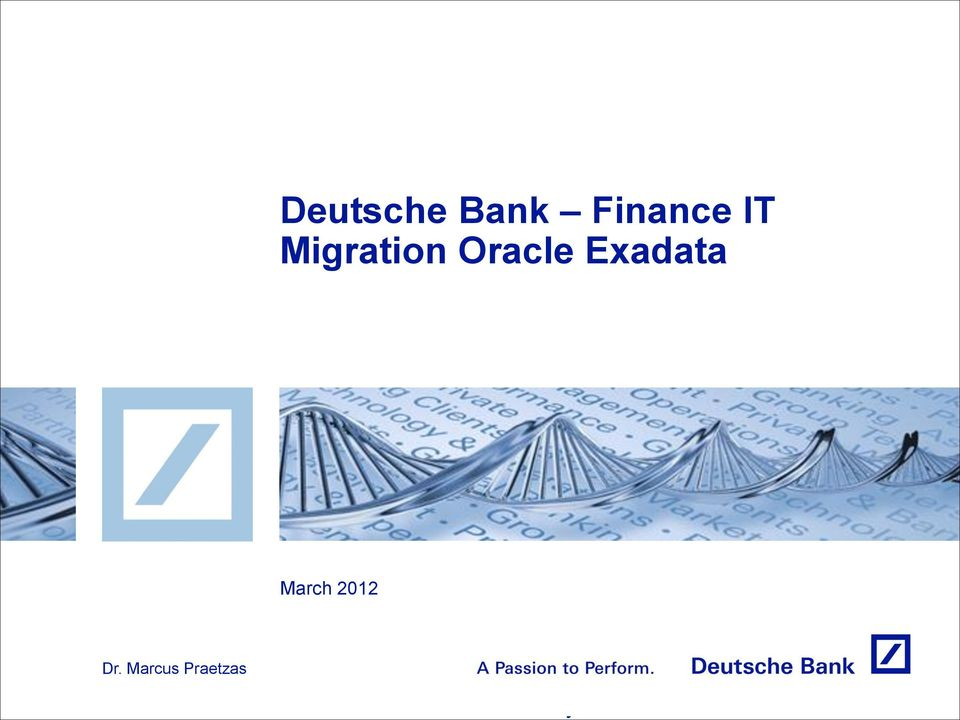 Migration Oracle