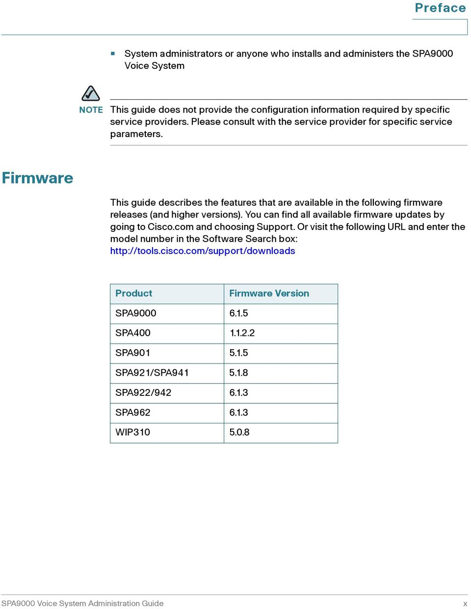 Firmware This guide describes the features that are available in the following firmware releases (and higher versions). You can find all available firmware updates by going to Cisco.