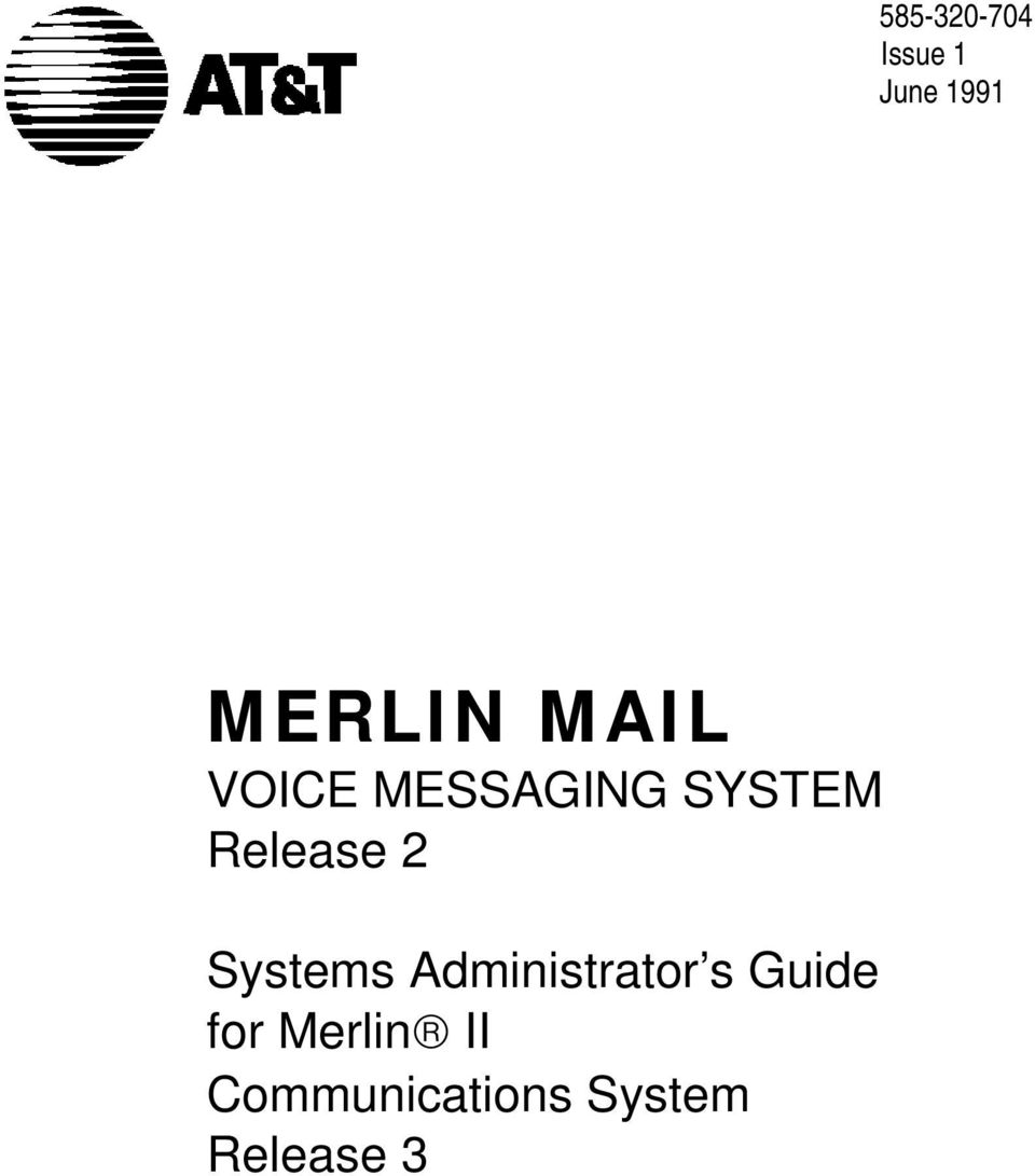 Systems Administrator s Guide for