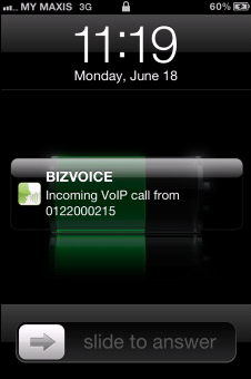 Using BizVoice for iphone Handling