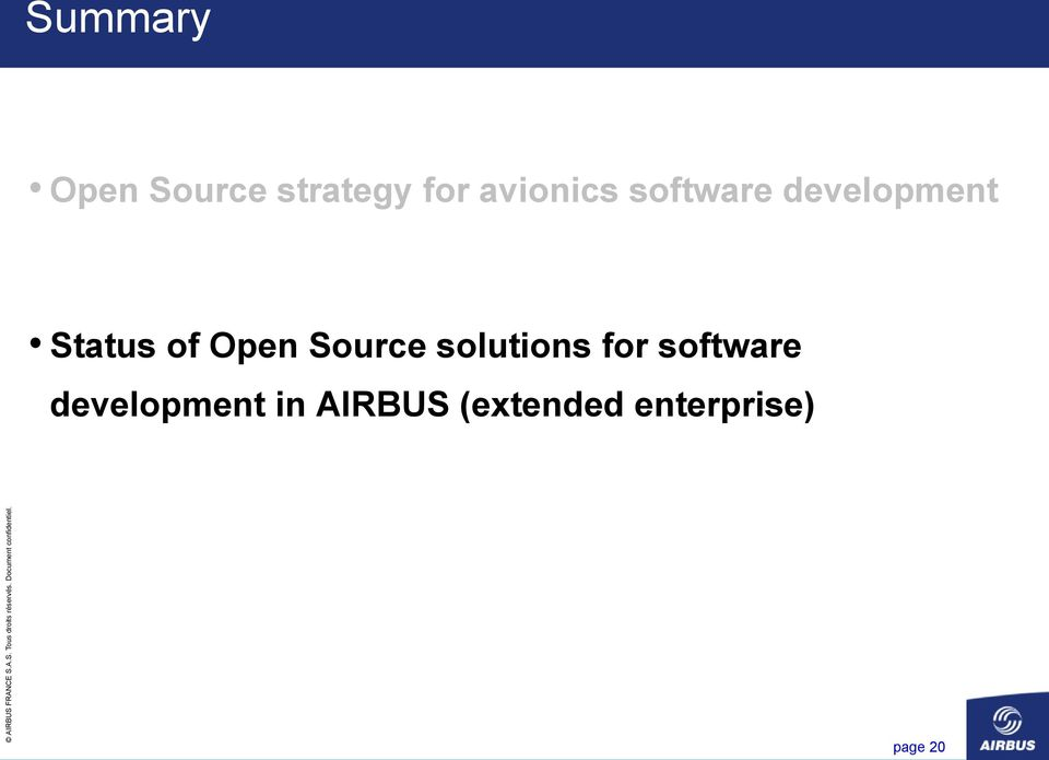 Open Source solutions for software