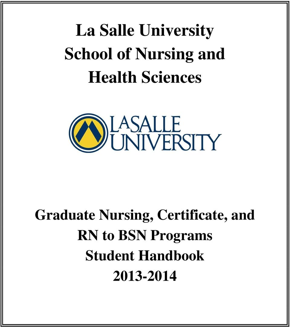 Graduate Nursing, Certificate, and