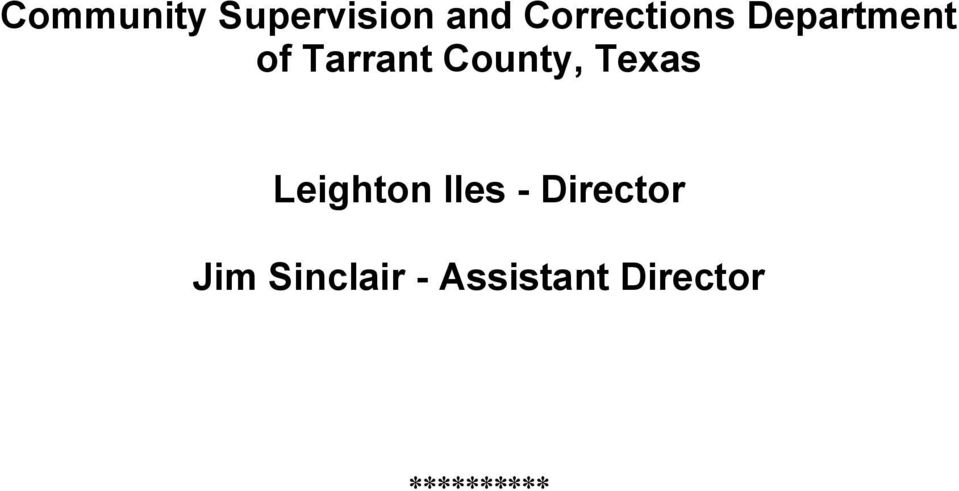 County, Texas Leighton Iles -