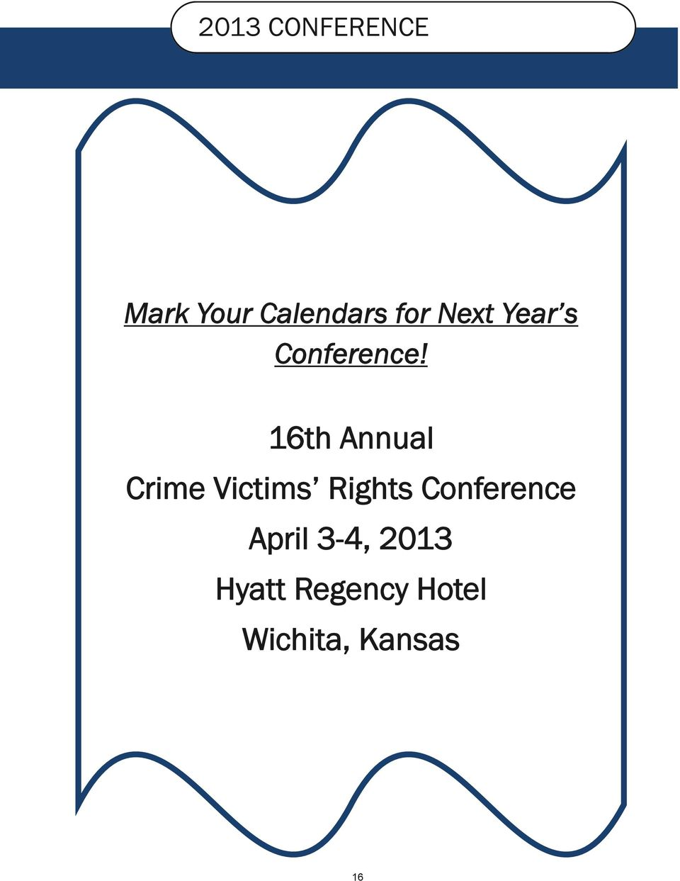 16th Annual Crime Victims Rights