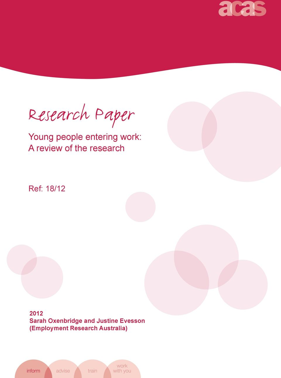 review of the research Ref: 18/12 2012 Sarah