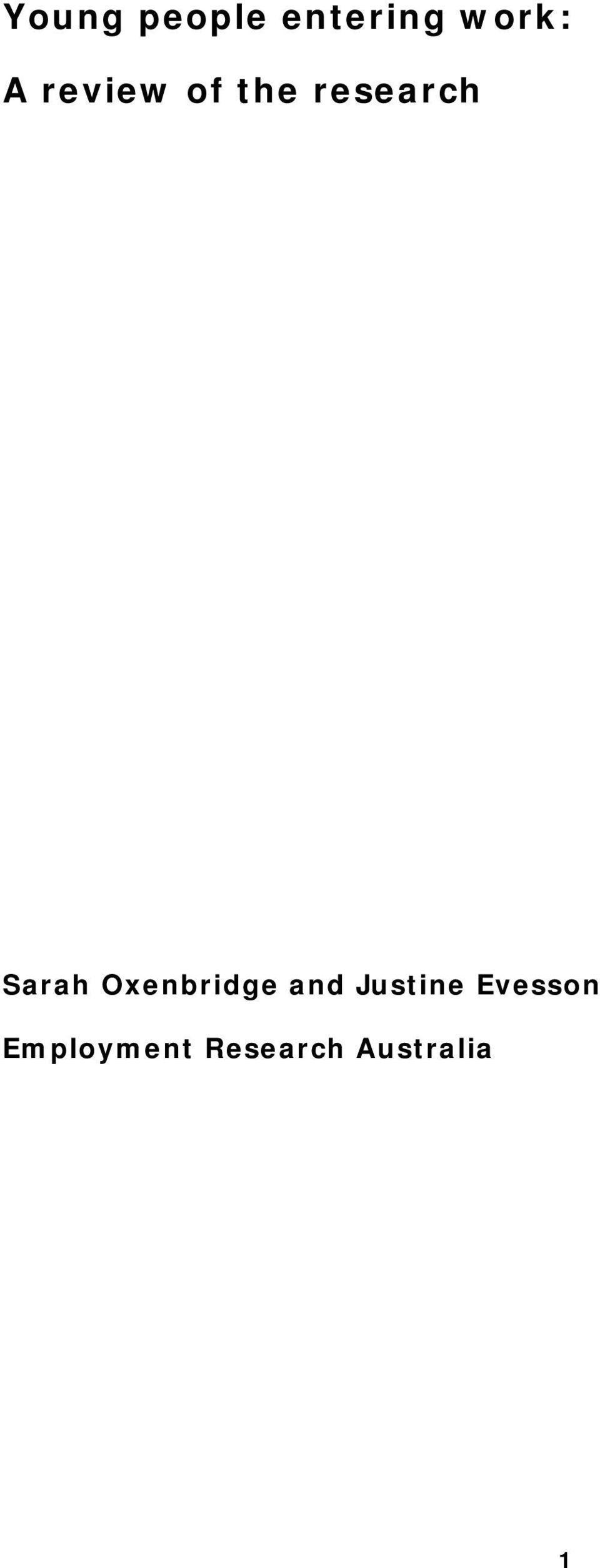Oxenbridge and Justine Evesson